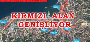 Zonguldak'ta Kırmızı Alan Genişliyor