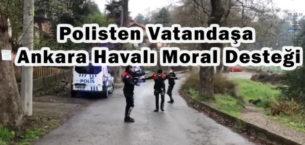 Zonguldak'ta Polisler Vatandaşa Moral Olması İçin Ankara Havası Oynadı